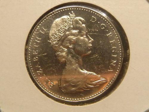 CANADA 5 Cents 1965 - Elizabeth II 1st portrait; round