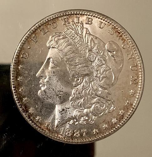 1887-P Reflective Prooflike Choice BU/MS+++ Gorgeous Original Mint Luster MSD$1.