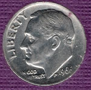 1966p SMS Roosevelt Dime #3