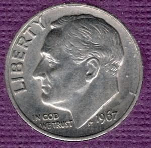 1967p Roosevelt Dime (SMS) - #6