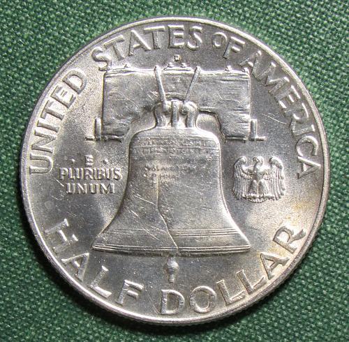 1949D Franklin Silver Half Dollar
