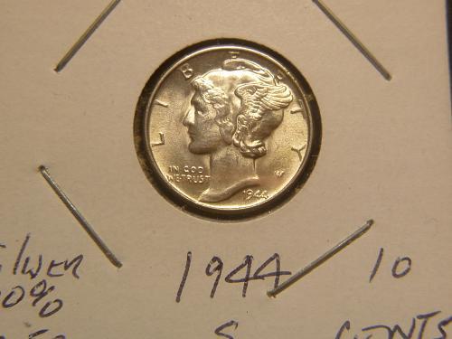 1944 S Mercury Dimes