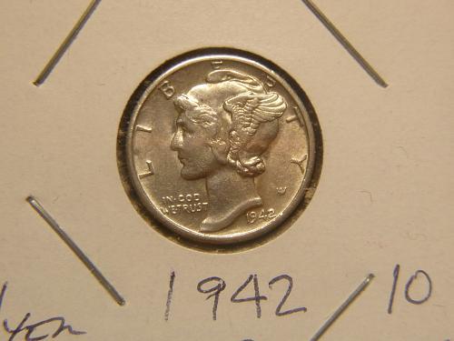 1942 S Mercury Dimes