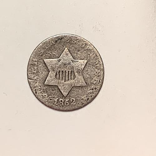 1852 Three cent silver  [3C13]
