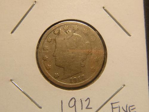 1912 D Liberty Nickels