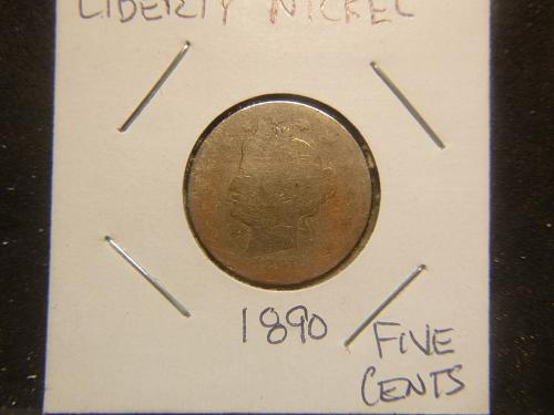 1890 P Liberty Nickels