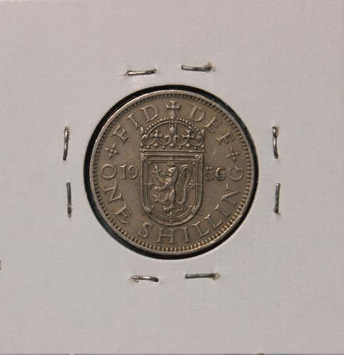 Great Britain 1956 shilling