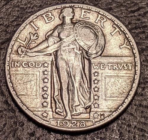 1928 VERY FINE/XF STANDING LIBERTY QUARTER