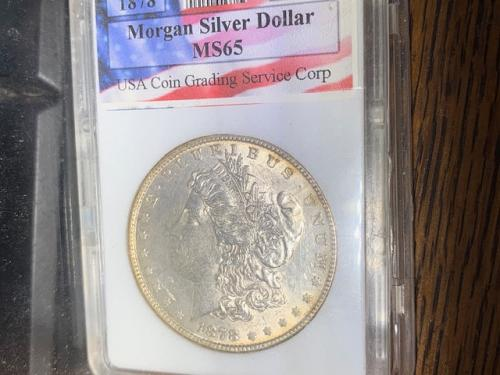1878 morgan  MS 65