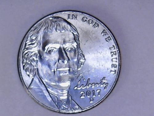 2017 D Jefferson Nickel    See Pictures