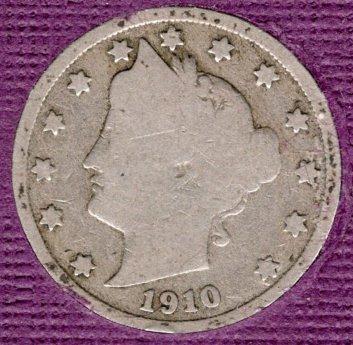 1910 P Liberty Nickels -#3