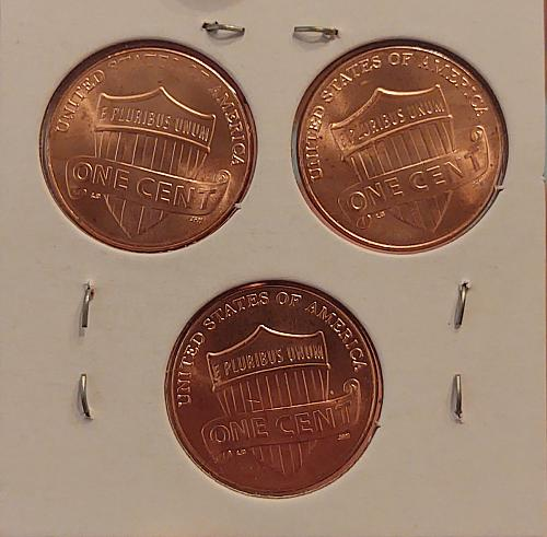 2017 P Lincoln Shield Cent Small Cents - Three Coin Lot