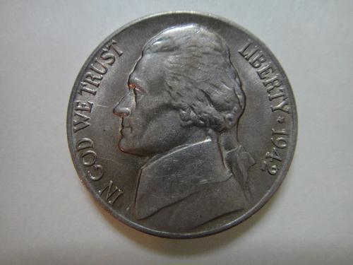 1942-D Jefferson Nickel Almost Uncirculated-53