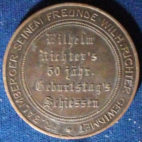 1905 Nuremberg Shooting Medal VF++