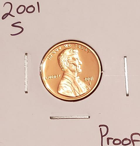 2001 S Lincoln Memorial Cent Small Cent