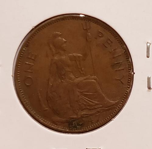 1947 Great Britain One Penny