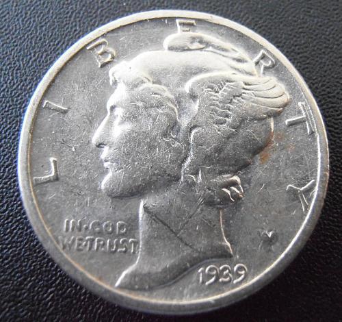 1939 P Mercury Silver Dime (39PUM2)
