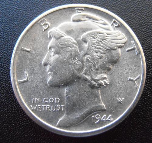 1944 D Mercury Silver Dime (44DUM2)