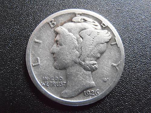 1926 D Mercury Silver Dime (26DUM1)