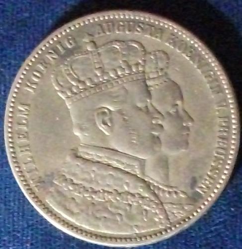 1861A German States/Prussia Thaler VF+