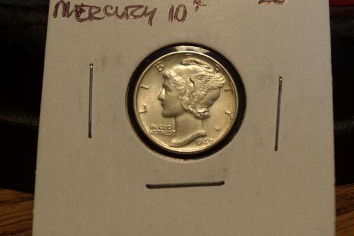 1940 Mercury Dime  AU58 Split Bands  #10-1940-1