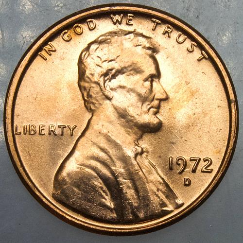 1972 D Lincoln Memorial Cent#3