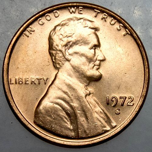 1972 S Lincoln Memorial Cent#4