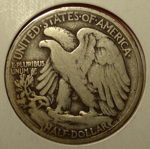 1919D Walking Liberty Half Dollar  VG10  #50-1919D-1