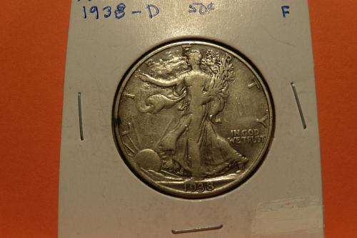 1938D Walking Liberty Half Dollar  F  #50-1938D-2