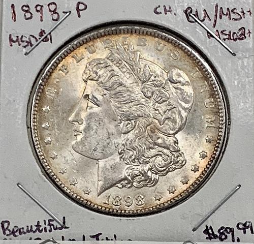 1898-P High Grade SPL/Reflective Choice BU/MS+++ Gorgeous Original Mint Luster M