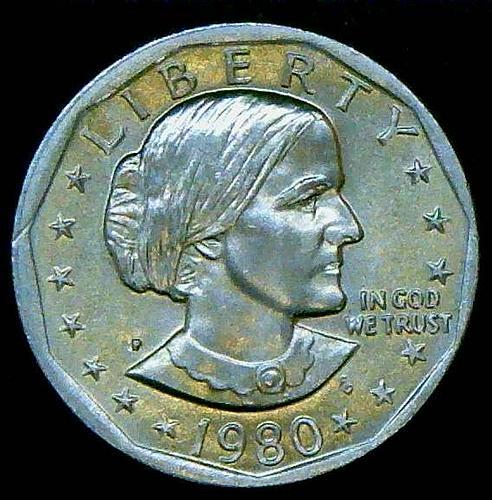 1980 P Susan B Anthony Dollars Clad Composition    V2P2R2