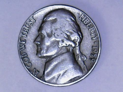 1959 D Jefferson Nickel    See Pictures