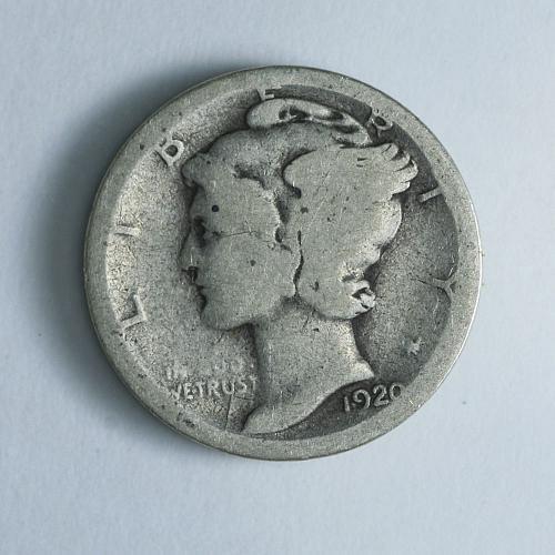 1920 D Mercury Dime AG