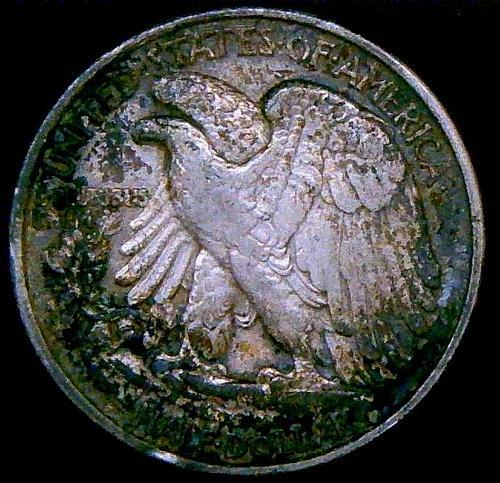 1943 Walking Liberty Half Dollars Mint Mark on Reverse  V2P2R3