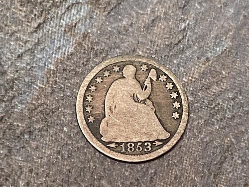 1853 Seated Liberty Half Dime with Arrows See photos.