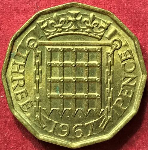 Great Britain - 1967 - 3 Pence [#2]