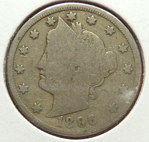 1896 Liberty Nickel  G4  #5-1896-1