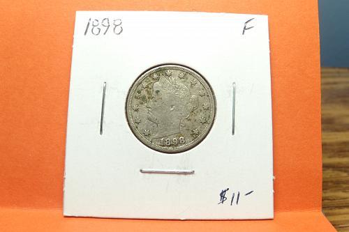 1898 Liberty Nickel  F12  #5-1898-1