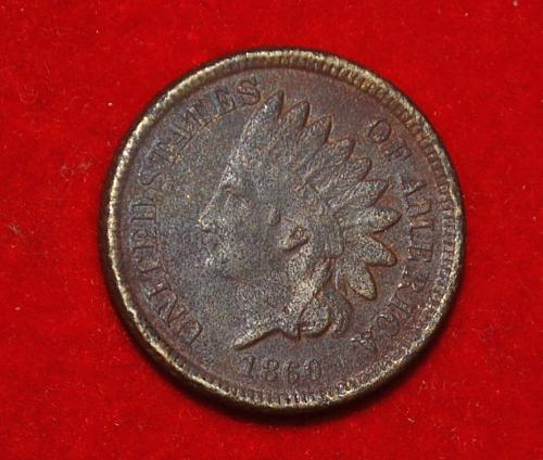 1860 P Indian Head Cent Small Cents 5422