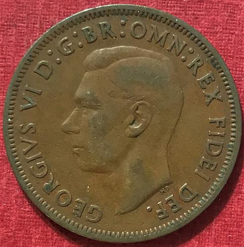 Great Britain - 1949 - 1/2 Penny