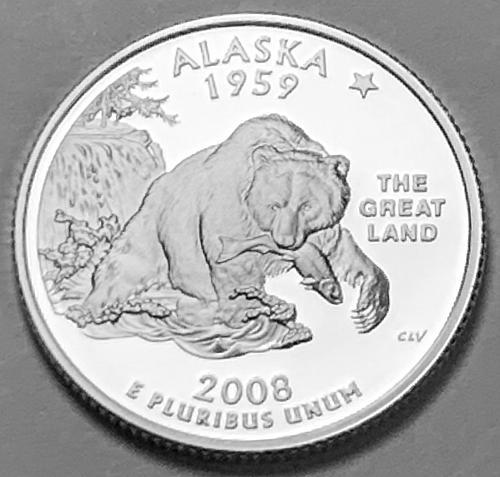 2008-S  Alaska State Proof Quarter  [BSWQ 395]