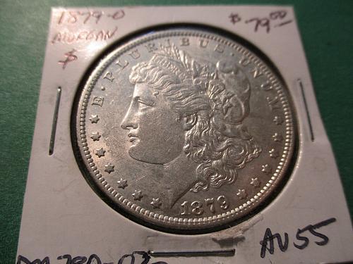 1879-O  AU55 Morgan Dollar.  item: DM 79O-02.