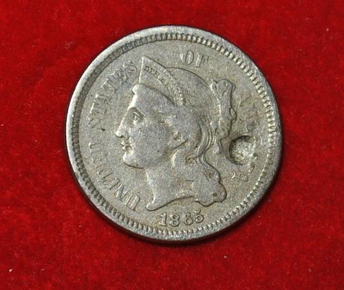 1865 P Nickel Three Cent Three Cent 5441