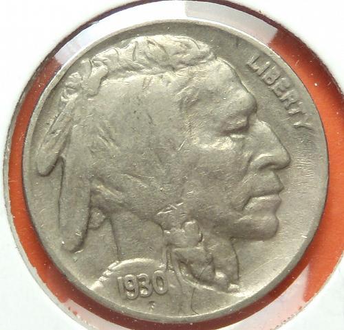 1930 Buffalo Nickel  VF30  #5-1930-1