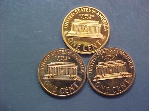 1972 S, 1973 S, AND 1974 S LINCOLN CENTS CAMEO PROOF      ad56