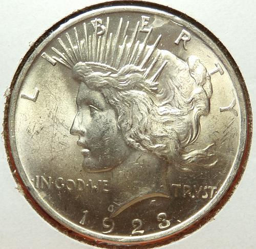 1923 Peace Dollar  MS63  #$-1923-4
