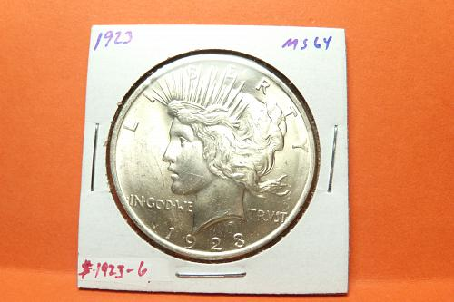 1923 Peace Dollar  MS64  #$-1923-6