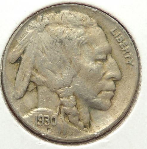 1930 Buffalo Nickel  VF30  #5-1930-2