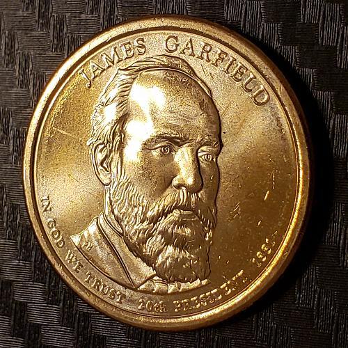 2011-D Presidential Dollar, James A. Garfield