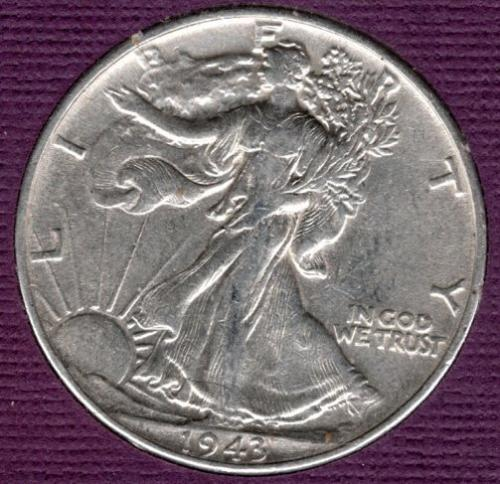 1943 P Walking Liberty Half Dollars -#3
